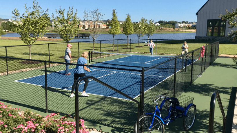 Birchwood at Brambleton Pickleball players